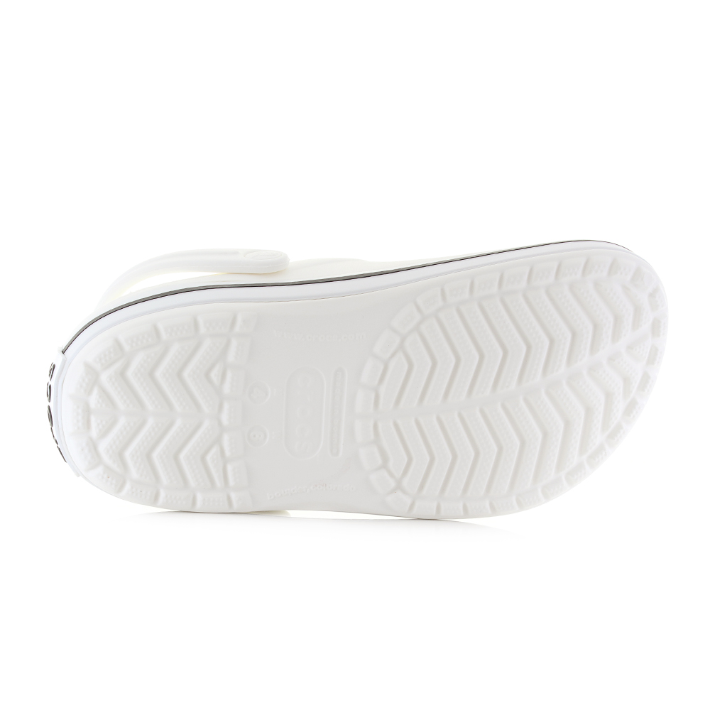 246b17aae88 Crocs Crocband Clog White Comfort Durable Practical Clogs Sandals Size. Crocs  Crocband is a classic mule with a twist it incorporates a trainer style  band ...