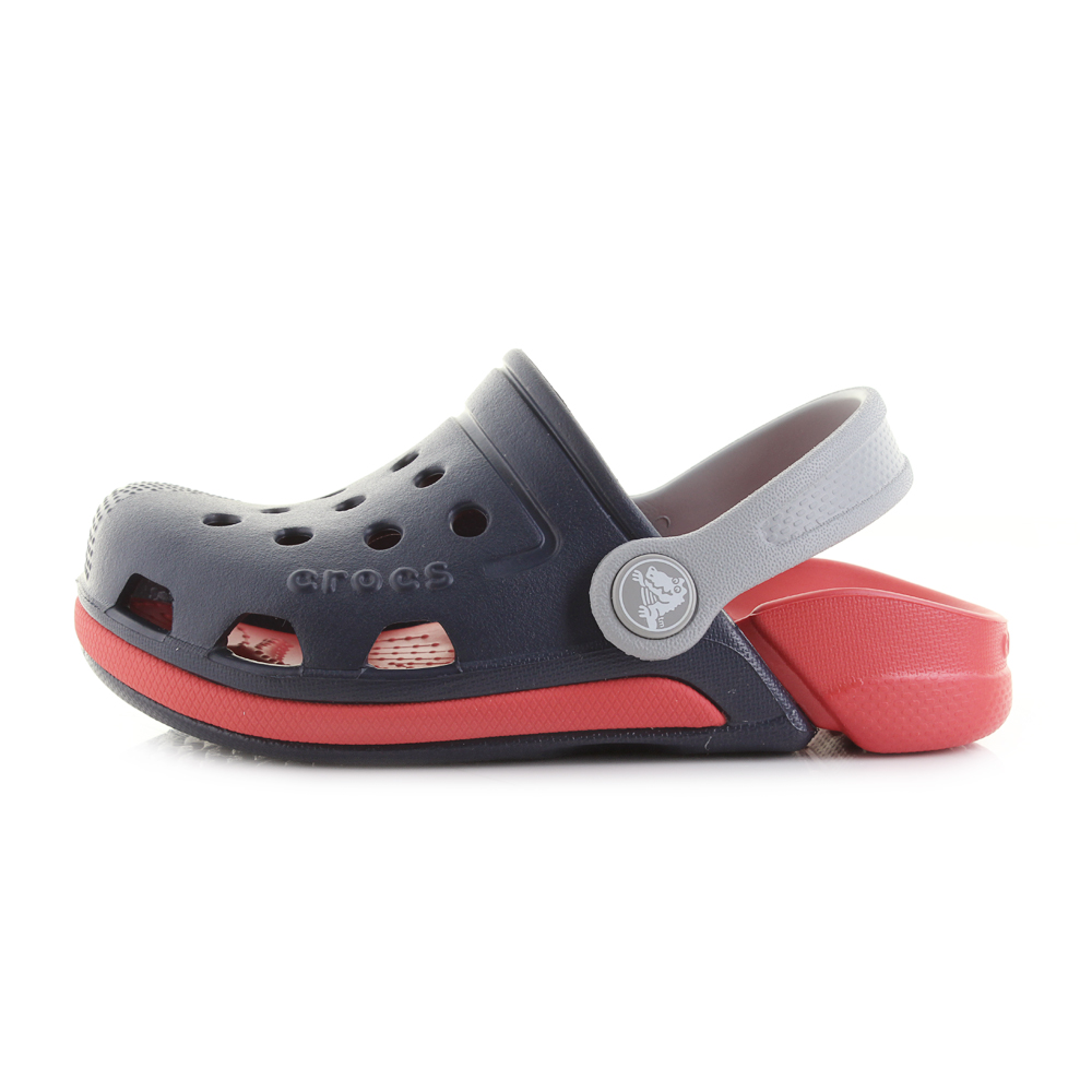 0558c8959 Kids Crocs Electro III Clog K Navy Blue Flame Red Clogs Sandals Shu ...