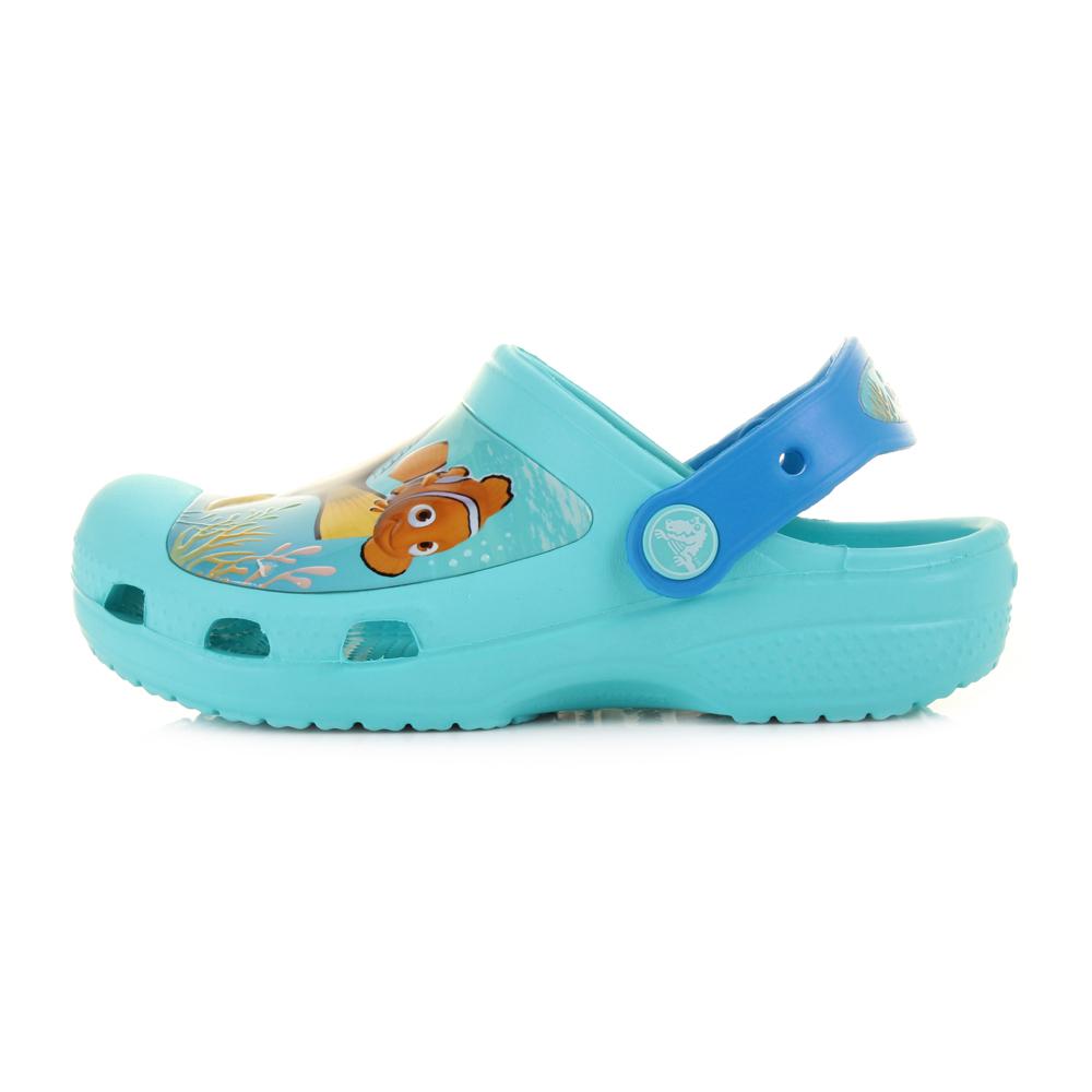 e1b3047865c6 Kids Boys Girls Crocs Finding Dory Clog K Pool Blue Nemo Turq Clogs Shoe UK  Size