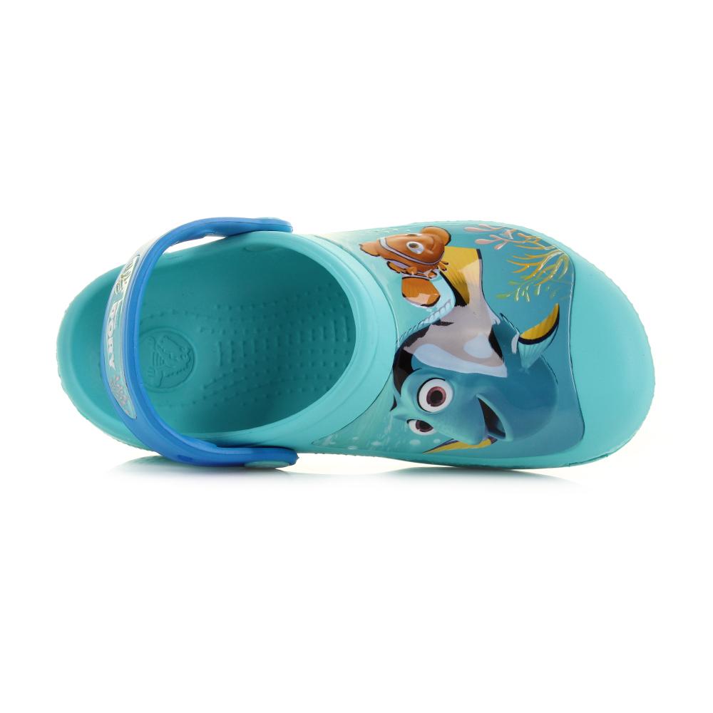 25b85dd90df0 Kids Boys Girls Crocs Finding Dory Clog K Pool Blue Nemo Turq Clogs Shoe  Size