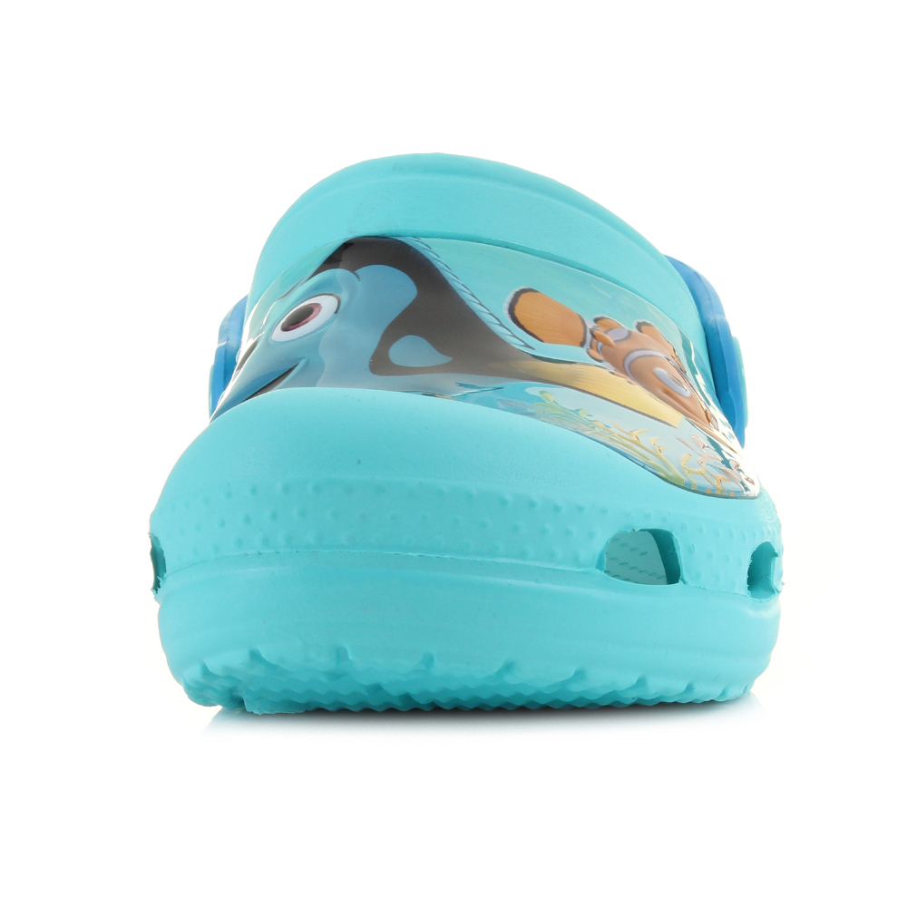 7be1f3b9bda35c Kids Boys Girls Crocs Finding Dory Clog K Pool Blue Nemo Turq Clogs Shoe UK  Size