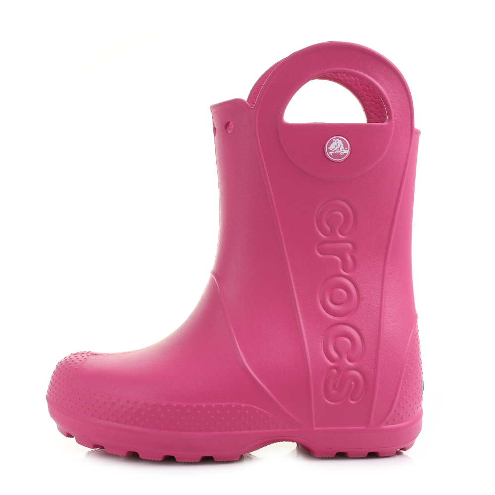 702f065e3 Crocs Handle It Rain BOOTS Candy Pink Size Junior J1 Kids Youth for ...