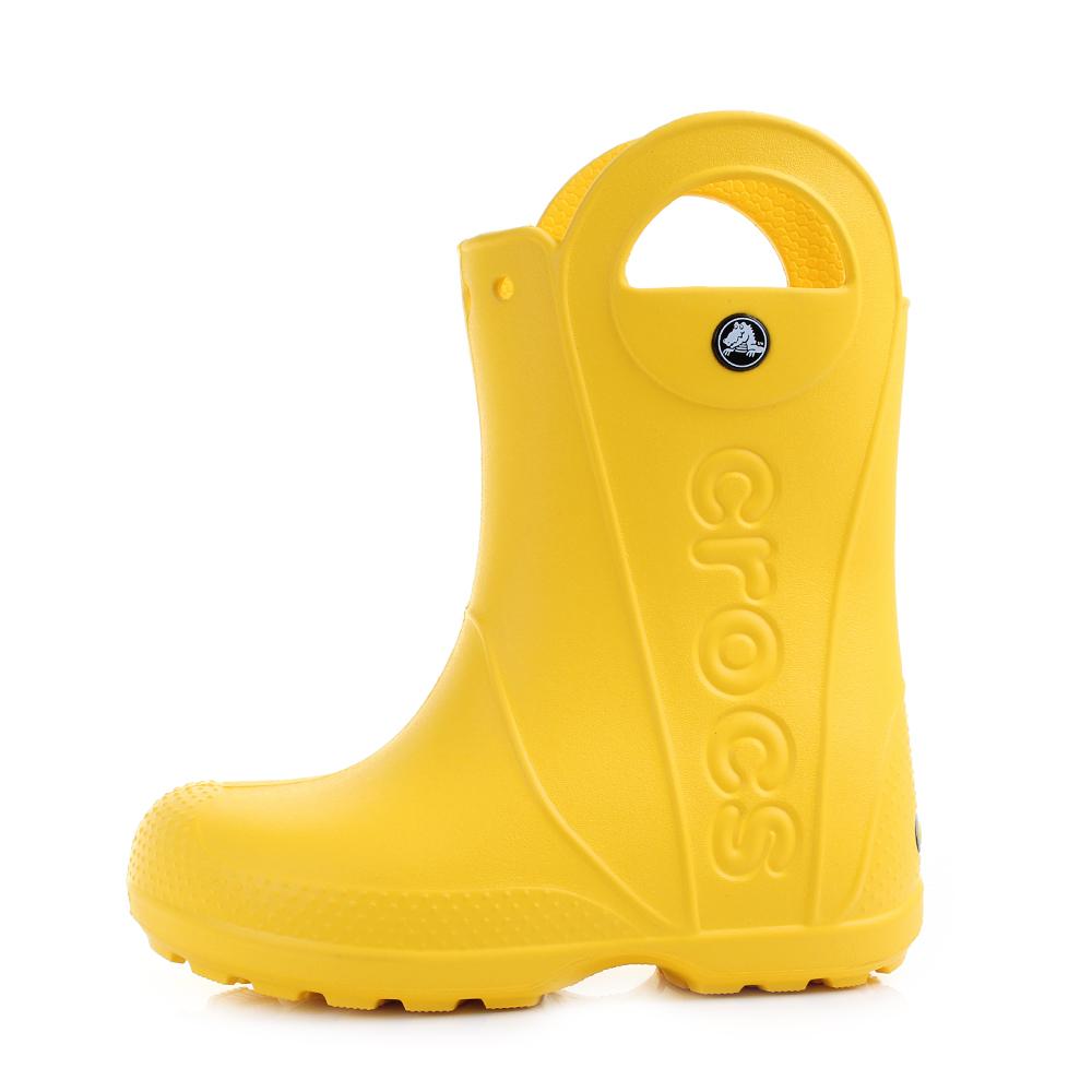 Crocs Enfants Handle It Rain Boot Wellies en Jaune 12803 730 Td5bXm