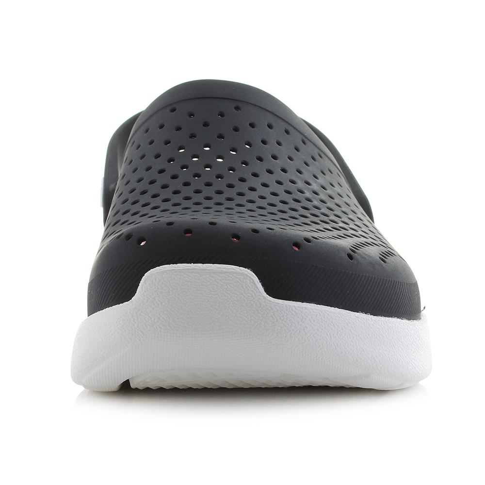 8cd22bae9c10 Mens Crocs Literide Clog Black White Red Comfort Clogs Sports Sandals Size