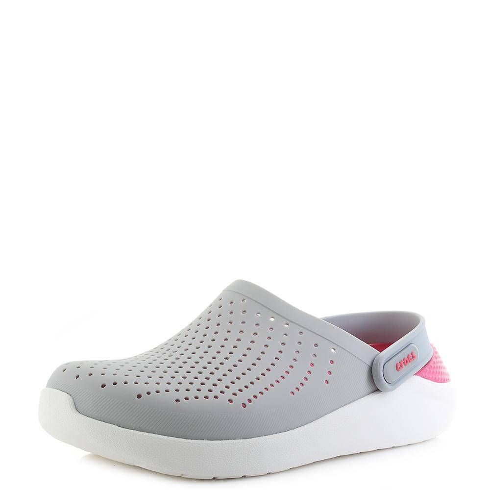 70f2981588a488 Womens Crocs Literide Clog Pearl White Pink Comfort Sports Sandals Shu Size