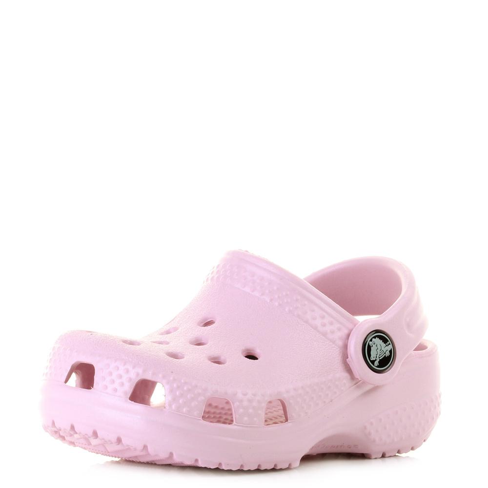 c7b8903cba1b Kids Girls Crocs Littles Ballerina Pink Slip On Infant Clog Sandal Shoe Size