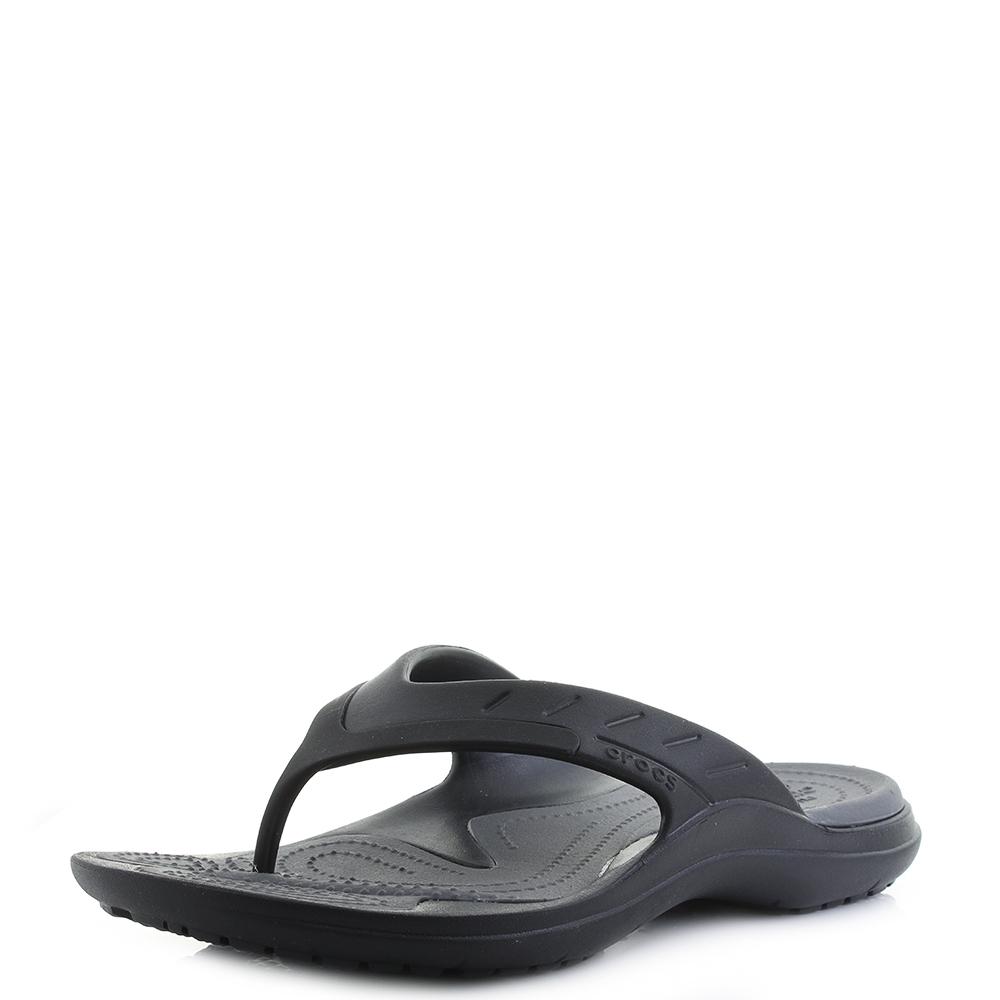 0f9ac5a50d252c Details about Crocs Modi Sport Flip Black Graphite Grey Sport Style Sandals  Flip Flops UK Size