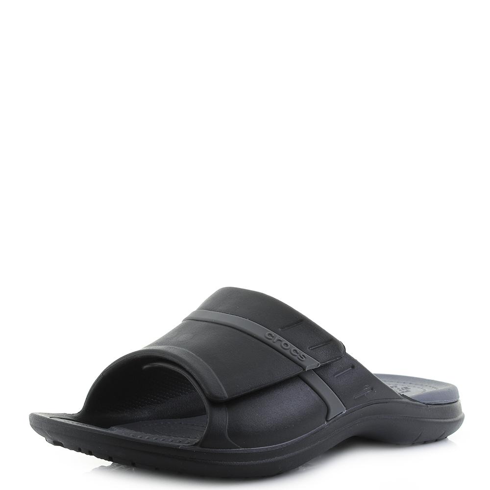 01292916e935b3 Details about Mens Crocs Modi Sport Slide Black Graphite Grey Sports  Sliders Sandals UK Size