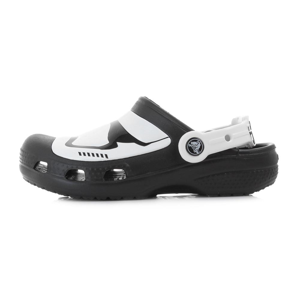 d2839393e355e8 Boys Crocs Stormtrooper Multi Black White Glow In The Dark Clogs Sandals  Size