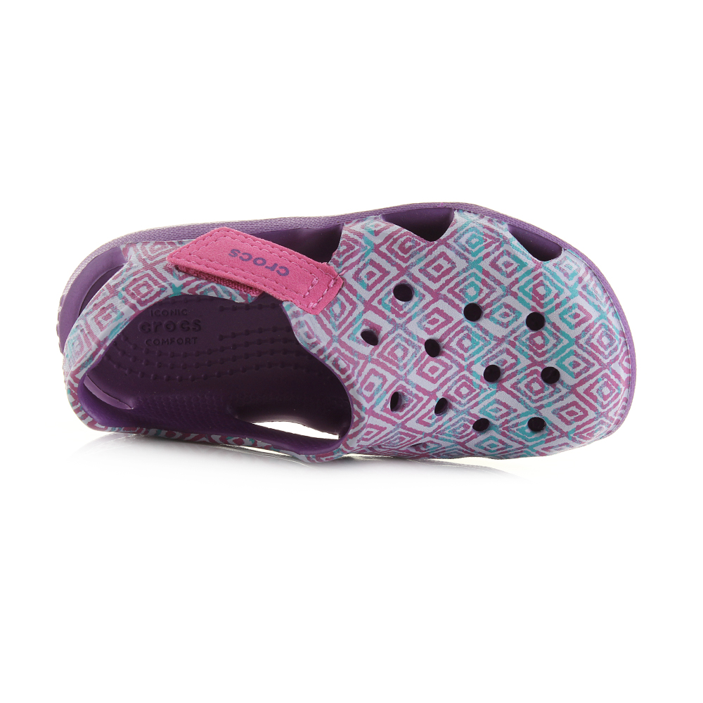 10178bb13 The Crocs Swift Water is a lightweight sandal for kids that offers a  practical fit and feel that is perfect for long days on the beach or by the  pool.