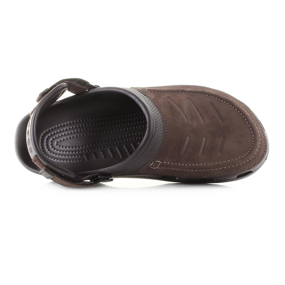 f7a789309f520d Mens Crocs Yukon Vista Espresso Leather Clogs Sandals Shu Size