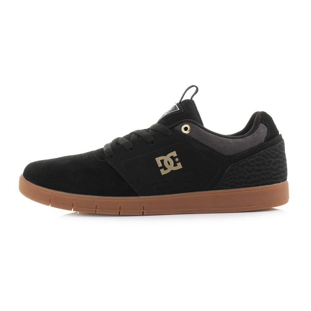 Mens DC Cole Signature Grey Black Black Gum Slim Profile Skate Trainers Size