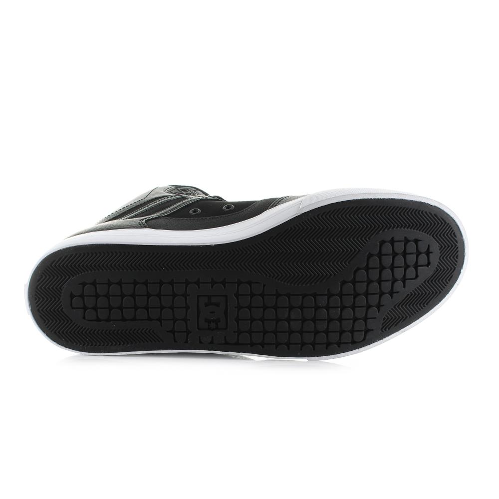 dd82c77ba745 ... Mens DC Pure High Top WC Black White Classic Classic Classic Leather  Skate Trainers Shoe Shu