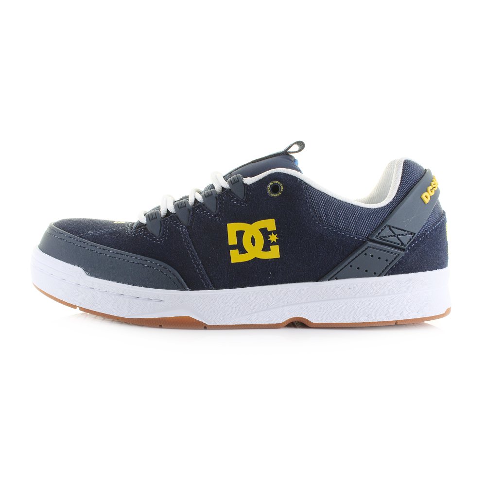 Mens-DC-Syntax-Navy-White-Leather-Lightweight-Skate-
