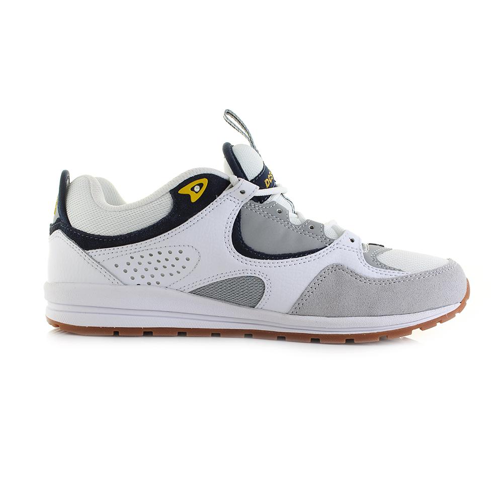DC Shoes Kalis Lite, Zapatillas de Skateboarding para Hombre, Blanco (Blanco/(WYY White/Grey/Yellow) WYY), 40.5 EU