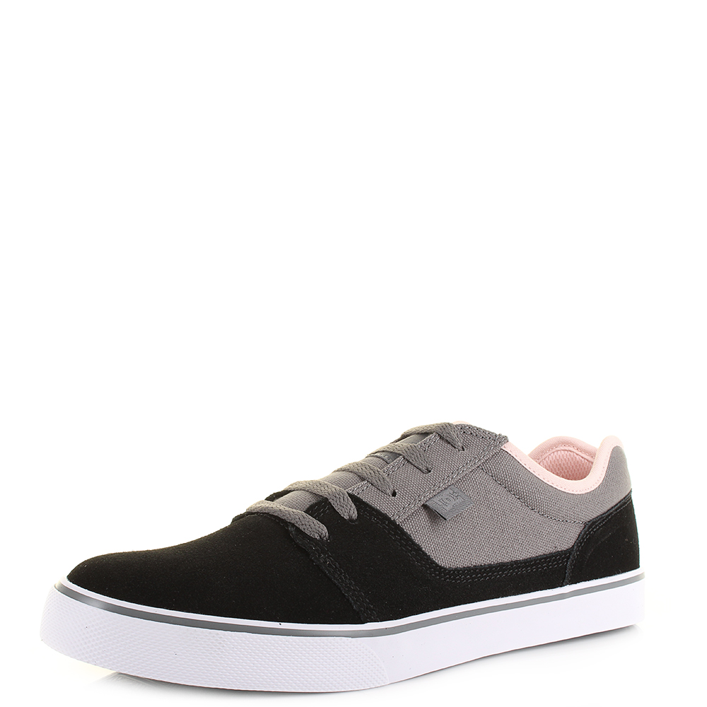 4f3945bd646 Mens DC Shoes Tonik Grey Pink Black Casual Suede Leather Trainers Size