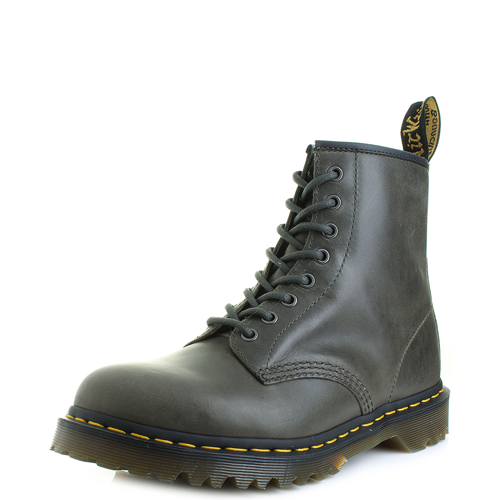 63f11be840 Mens Dr Martens 1460 Dark Taupe Orleans Leather DM Boots Size | eBay