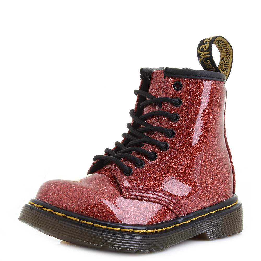 Toddler Dr Martens 1460 Glitter T Red Multi Glitter Fashion Ankle Boots Shu  Size 9b4decaa4f95