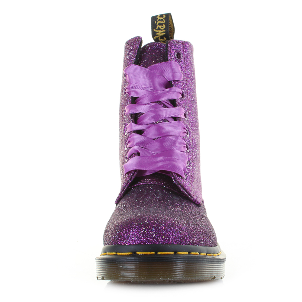 2769cb806adbc Womens Dr Martens 1460 Pascal Glitter Purple Multi Ankle Boots Size ...