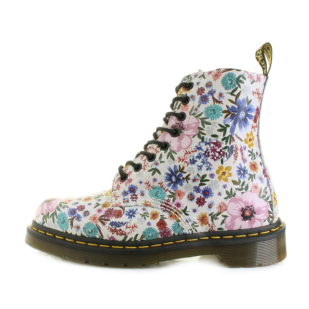 f4a77aaf85f4d Womens Dr Martens Pascal WL Backhand Bone Mallow Pink Floral DM Boots Shu  Size
