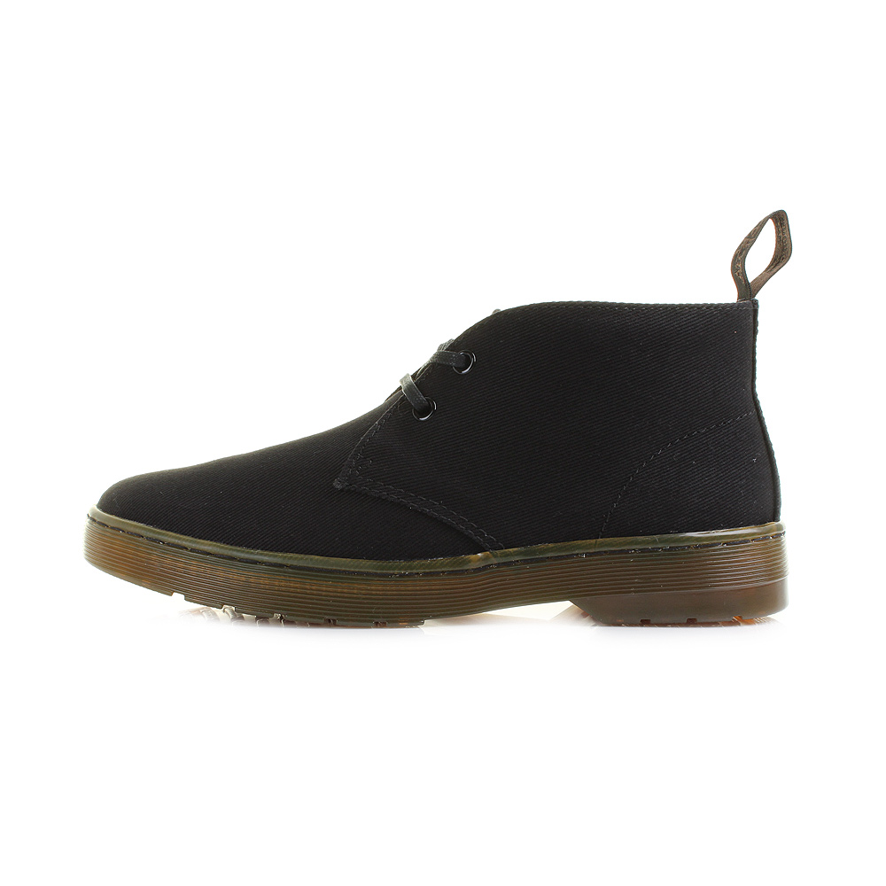 ... Overdyed Twill Canvas Black Desert Boots Size. Mayport from Dr Martens  is a twist on the men's desert boot. A classic look that is completely  timeless, ...