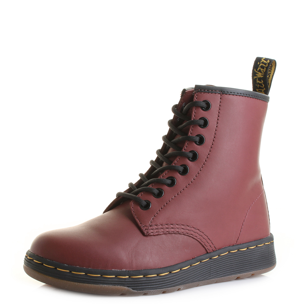 Unisex Dr Martens Newton Temperley Cherry Red Lightweight 8 Eye Boots Size 5719388c083f