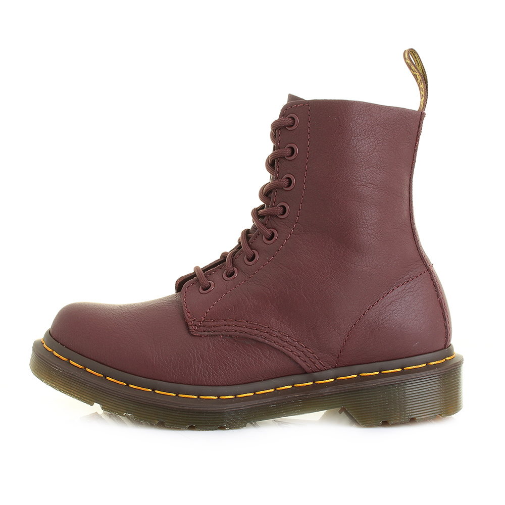 cf328e409364c Details about Womens Dr Martens Pascal Virginia Cherry Red Leather 8 Eye DM  Boots Sz Size