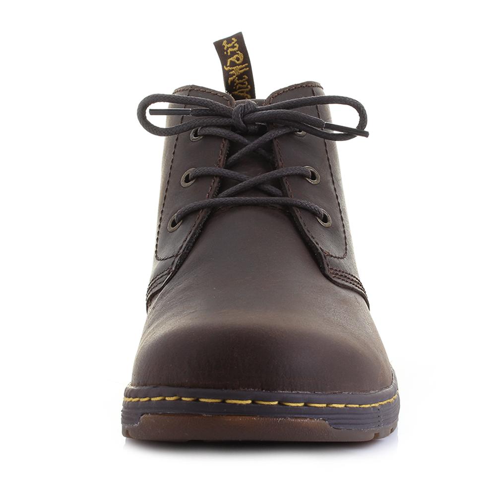 mens dr martens emil brown leather lace up comfort