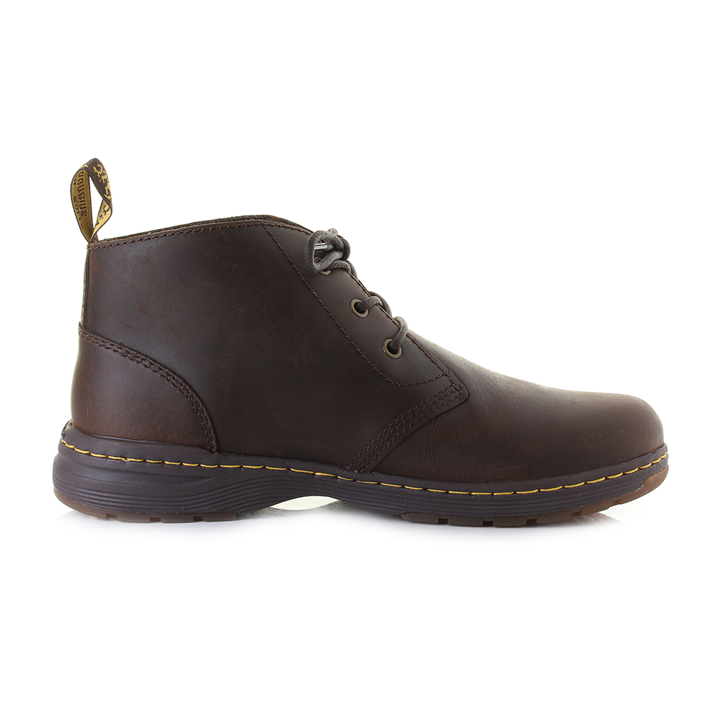 mens dr martens emil brown leather lace up comfort