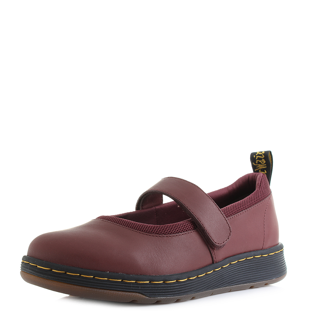 Womens Dr Martens Askins Cherry Red Temperley Sports Mary Jane Shoes Shu  Size