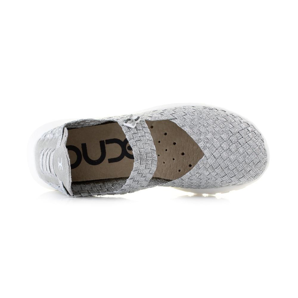 Hey Dude Shoes Women/'s E-last Tessa Black Glitter Mary Jane Shoes