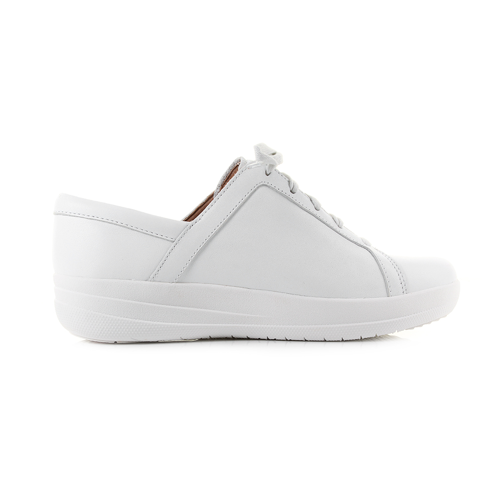 4f9d34084 Womens Fitflop F-Sporty 2 Lace Up Sneakers Leather White Trainers Sz Size