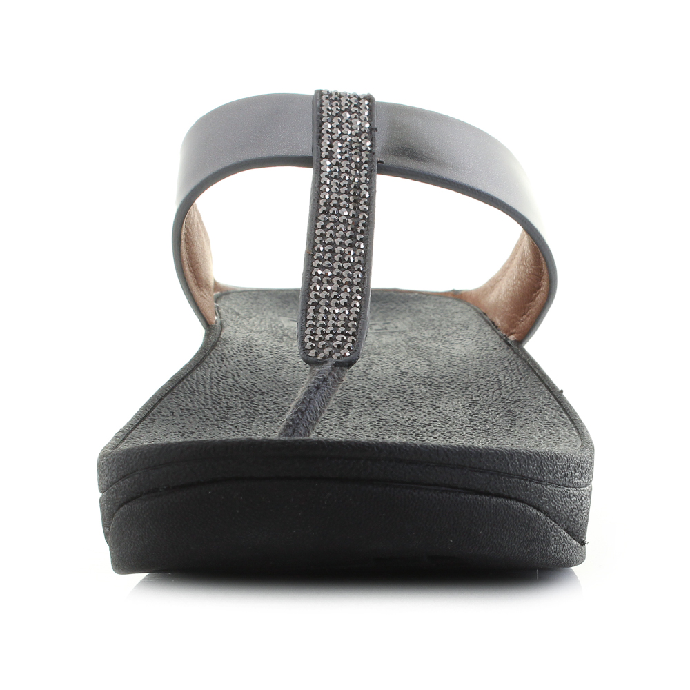 ec234258bc1 Womens Fitflop Fino Crystall Toe Post Pewter Sandals UK Size