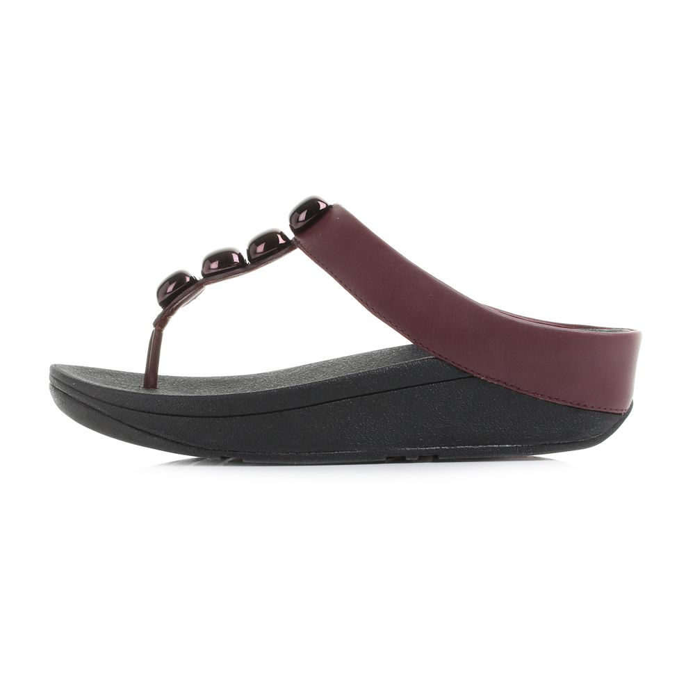 Women FitFlop Rola Flip Flop Sandal B87-243 Hot Cherry 100 Original 9.  About this product. Picture 1 of 6; Picture 2 of 6; Picture 3 of 6 ...
