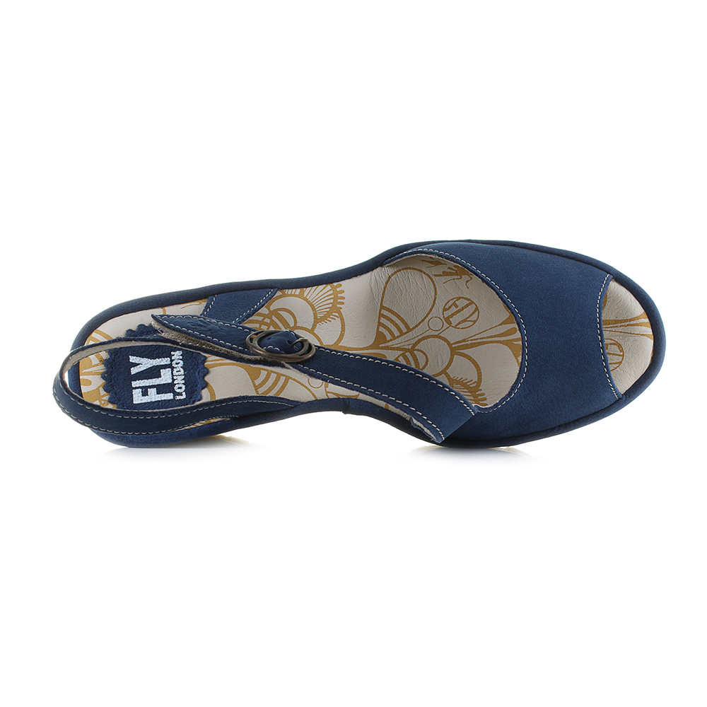 385131801 Fly Yamp is an elegant strappy sandal finished in a blue colour scheme that  is perfect for enhancing any summer wardrobe. The rubber sole unit matched  with ...