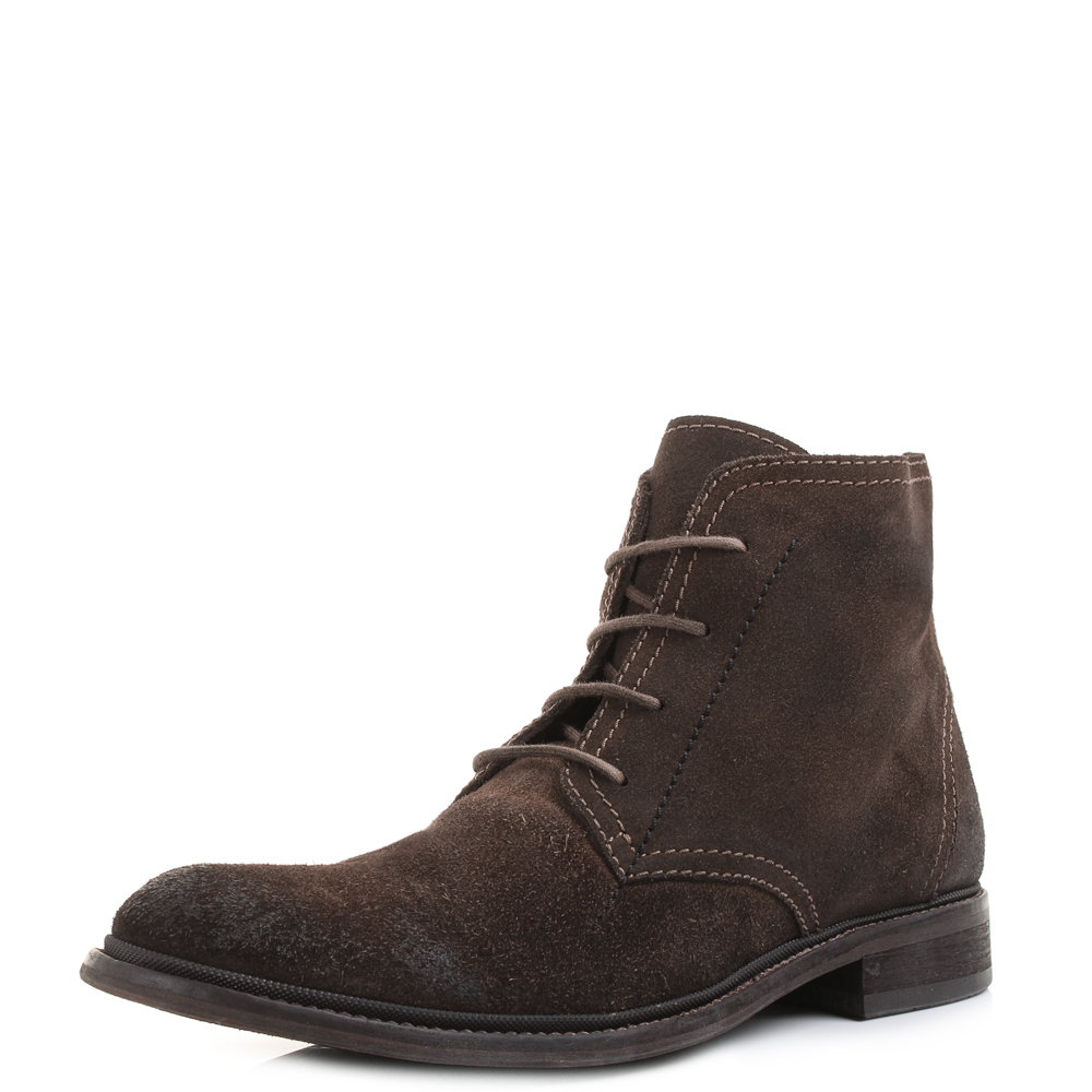 538ff006649 Details about Mens Fly London Hobi Washed Suede Coffee Leather Lace Up  Boots Shu Size