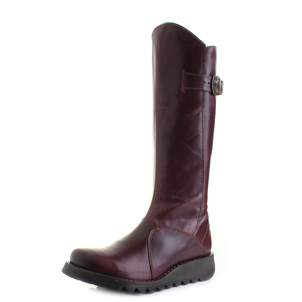 d780048a Womens Fly London Mol 2 Rug Purple Knee High Leather Boots Size | eBay