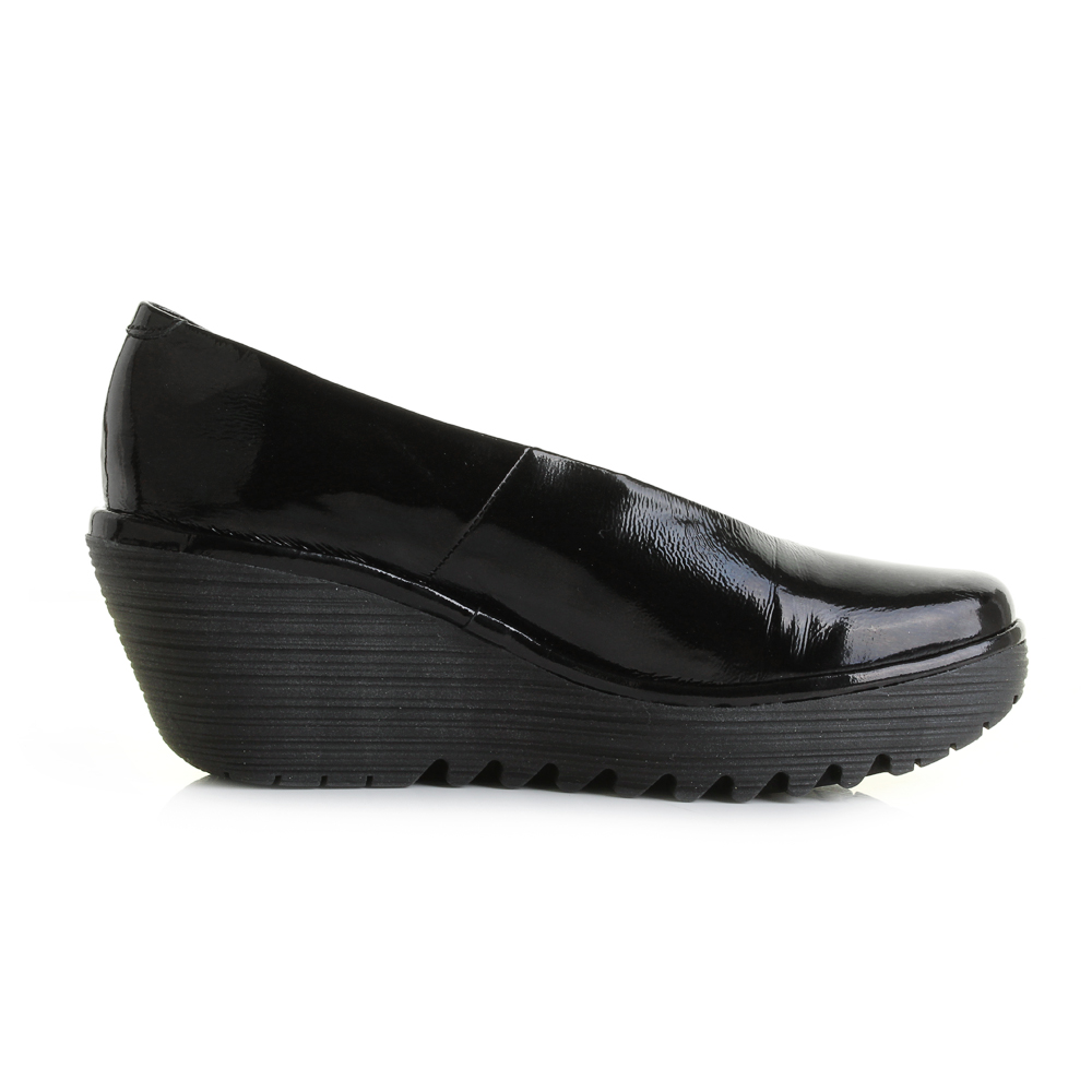 Fly London Black Patent Shoe