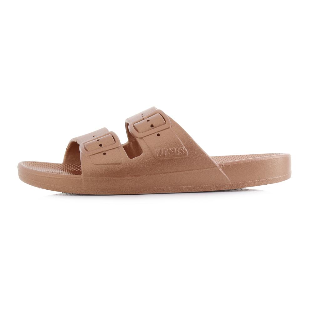 2c3d730bf5ed Womens Freedom Moses Copper Slide Slider Sandals UK Size