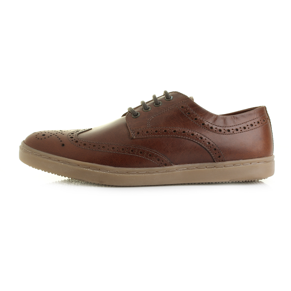 Mens Girvan Full Leather Brogue Detailed smart Casual ...
