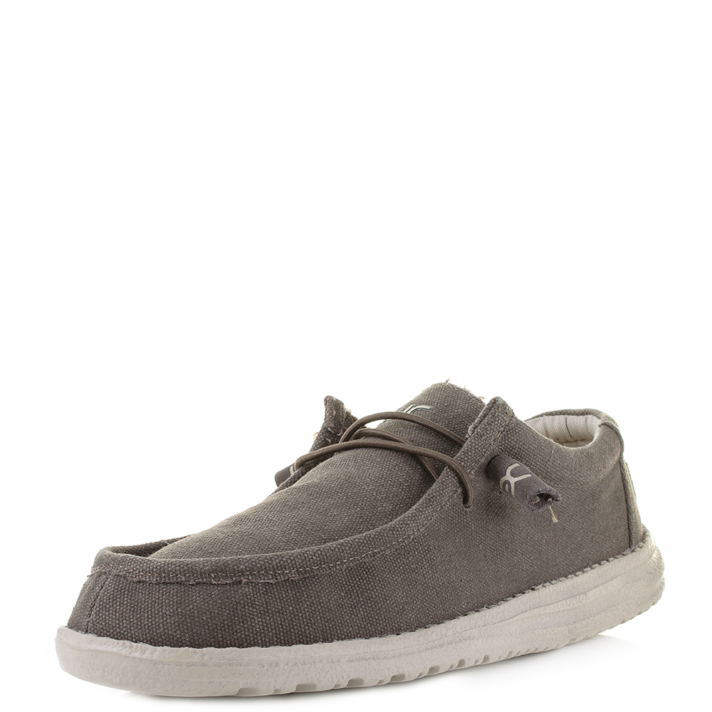 Hey Dude Mens Wally Canvas Shoes