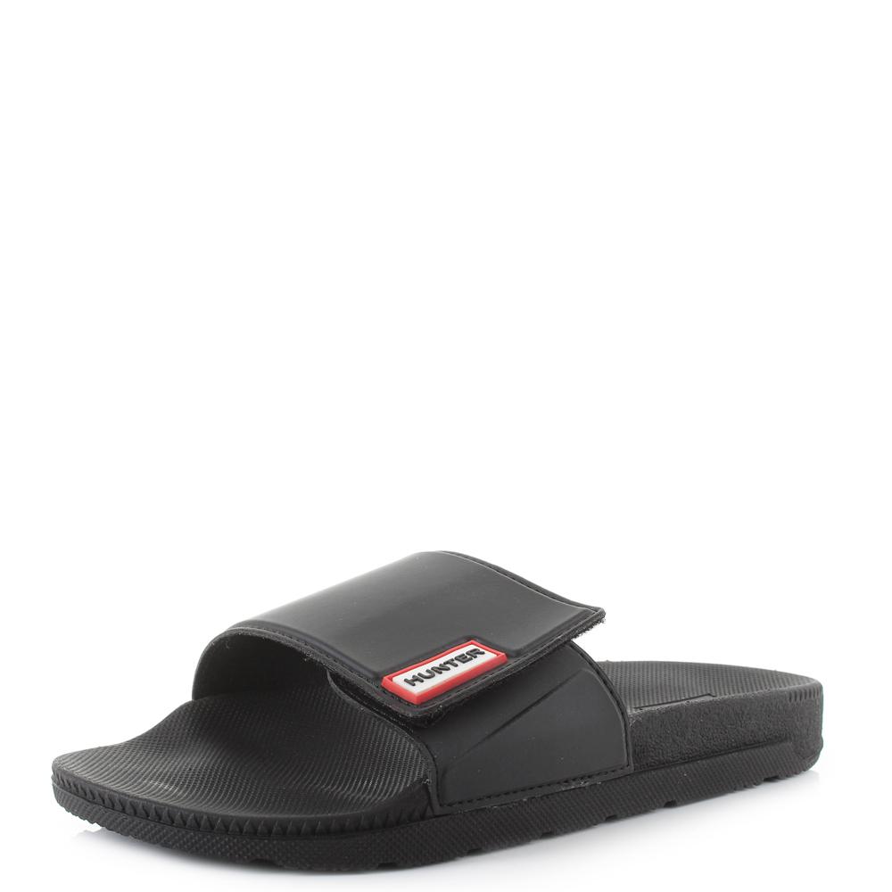 0ab8a8c499dc7 Womens Hunter Adjustable Slide Black Sliders Sandals Shu Size