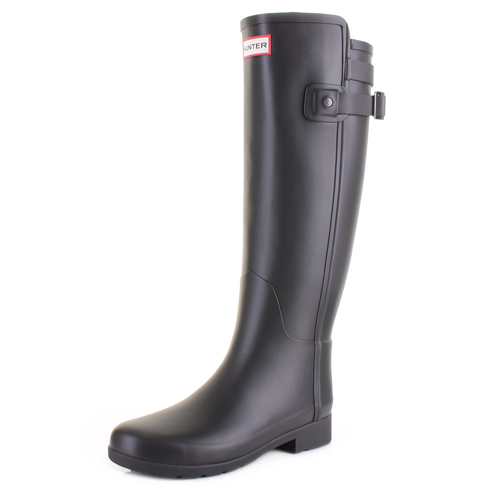 Womens W Org Tall Bt Refined B Strap Wellington Boots, Black, 7 Hunter