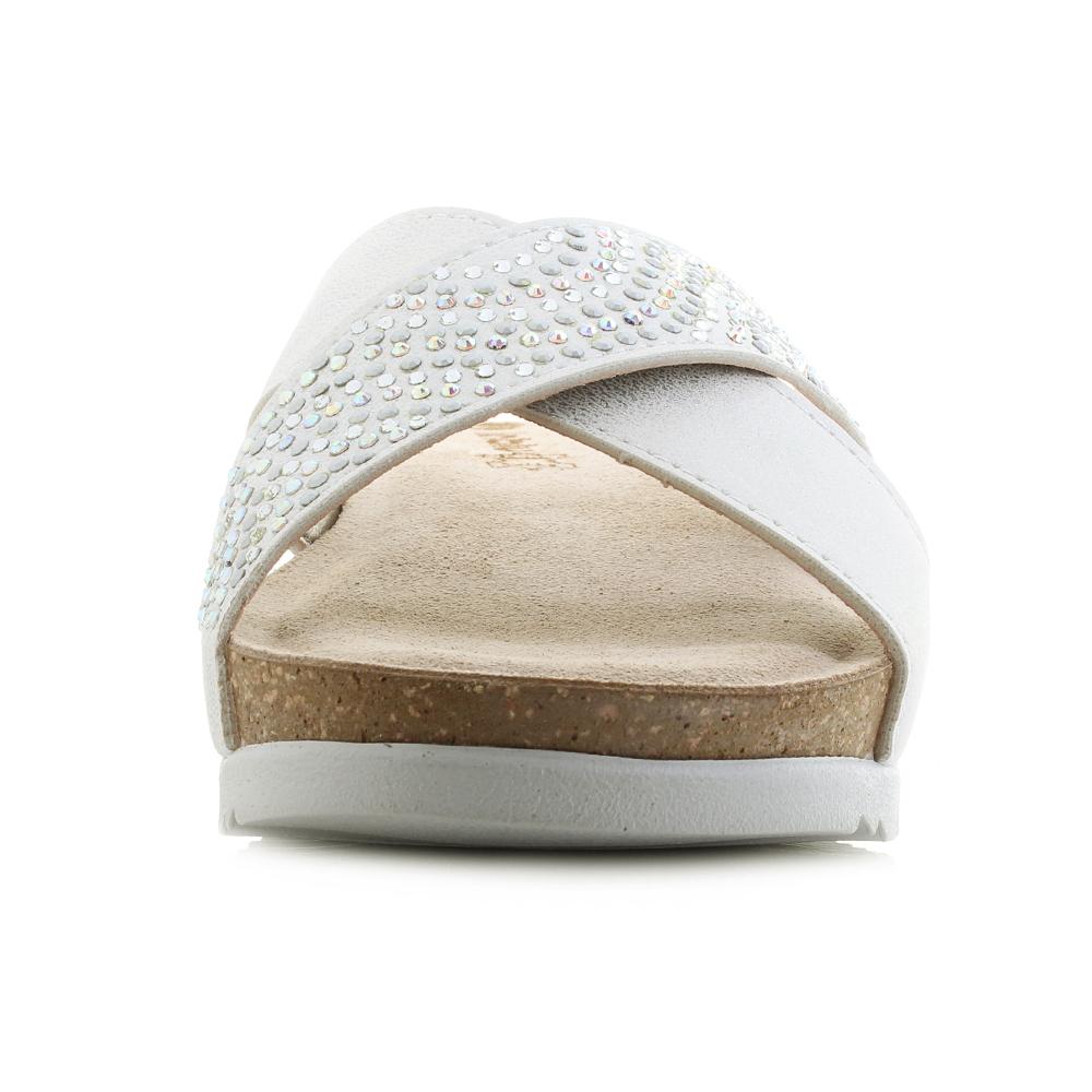 Womens Inblu UC-24 Sand Low Wedge Heel Comfort Crossover Sandals Size