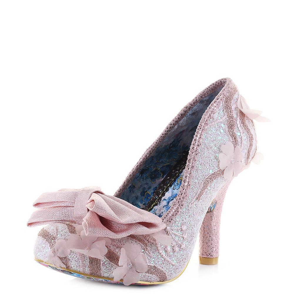 Womens Irregular Choice Mal E Bow Pink White