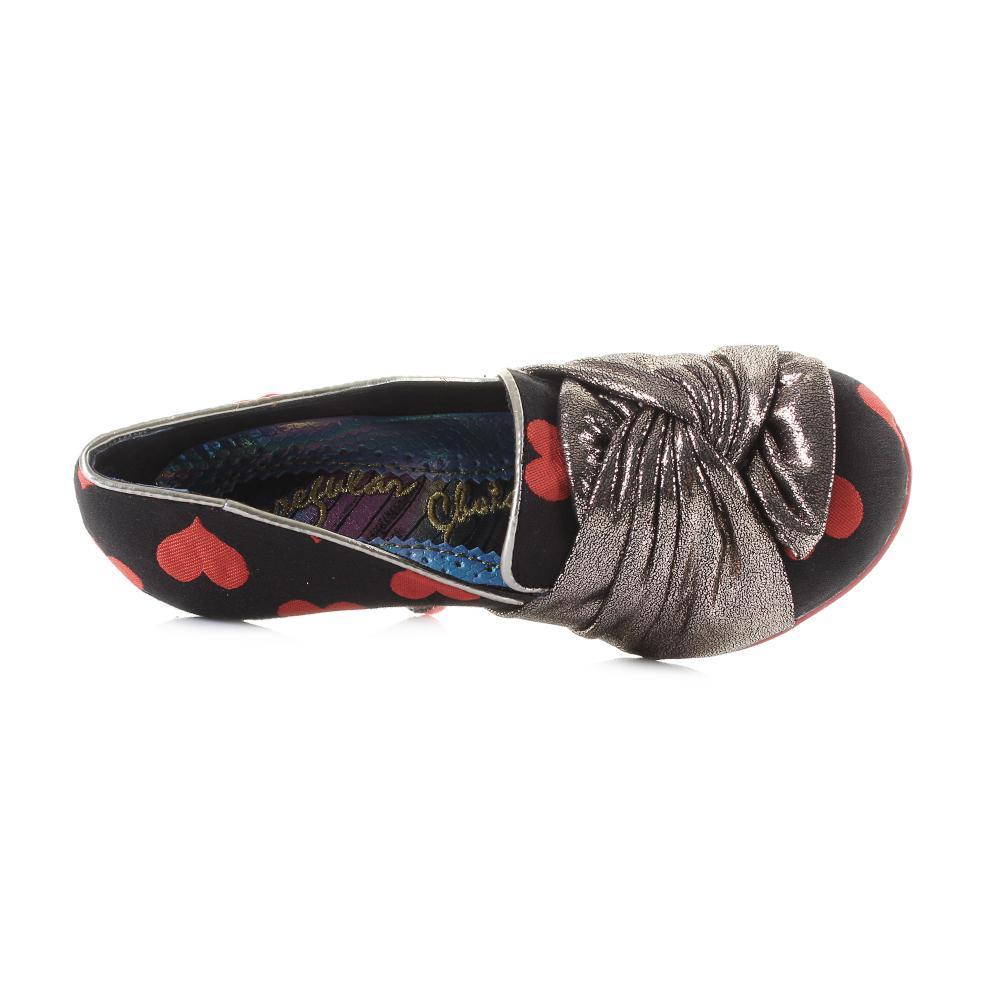 Womens-Irregular-Choice-Ohh-La-La-Red-Gold-Love-Heart-Glitter-Heel-Shoes-Shu-Siz thumbnail 5
