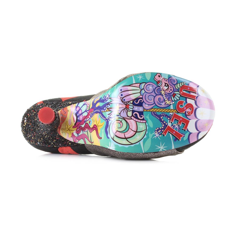Womens-Irregular-Choice-Ohh-La-La-Red-Gold-Love-Heart-Glitter-Heel-Shoes-Shu-Siz thumbnail 6