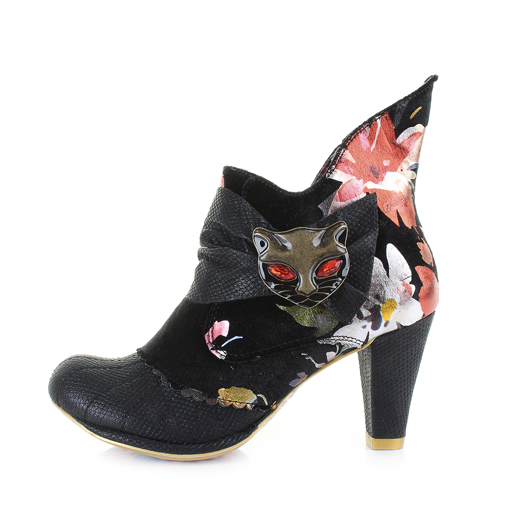 Miaow Floral Womens Ankle Boots