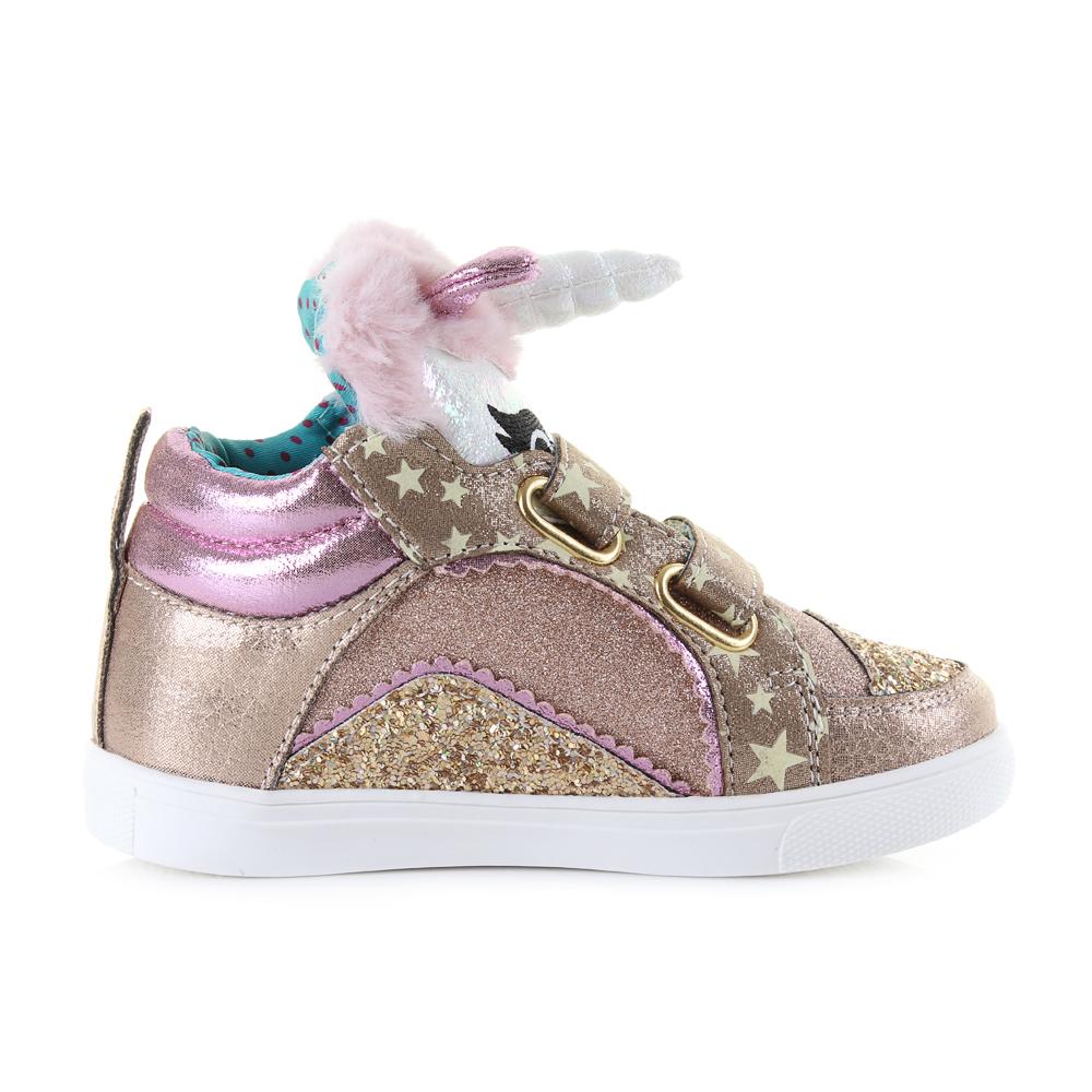 Kids Girls Irregular Choice Mini Candy Gold Glitter