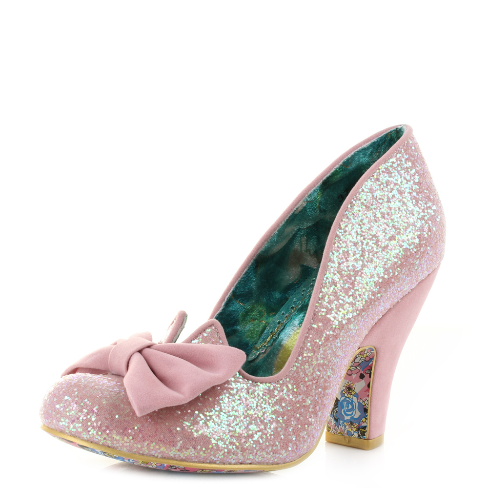 e213886b276a Womens Irregular Choice Nick Of Time Pink High Heel Court Shoes Size ...